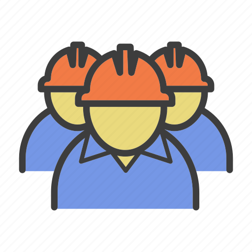 engineer, labor, labour, workers, workpeople icon