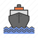 boat, cargo, freighter, oil, ship, tanker, vessel icon