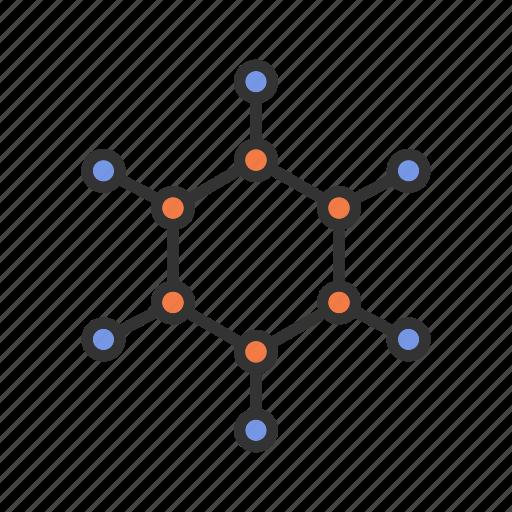 benzole, formula, fuel, gasoline, hydrocarbon, petrol, ring icon