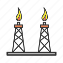 derrick, gas, platform, pump, rig, stage, tower icon