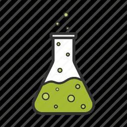 boiling, bulb, flask, lab, liquid, research, vessel icon