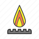 burn, burner, fire, flame, gas-burner icon
