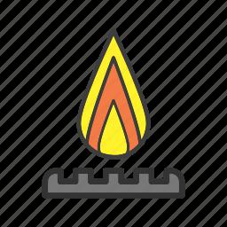 burn, burner, fire, flame, gas-burner icon