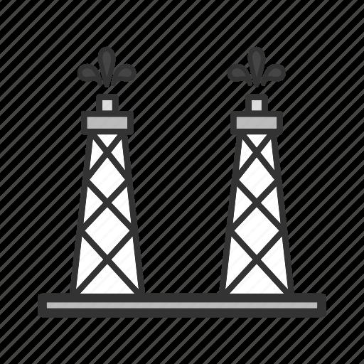 derrick, gas, platform, pump, rig, stage, tower icon