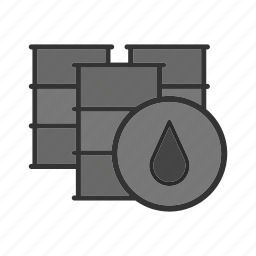 barrels, casks, cistern, drop, oil, sign, vat icon