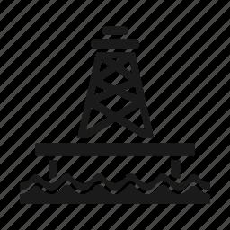 derrick, offshore, oil, platform, stage, tower icon