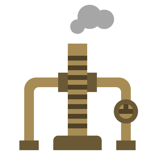 chimney, energy, factory, illustration, industry, oil, power icon