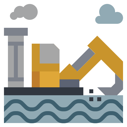 drilling, factory, illustration, industry, oil, power, rig icon
