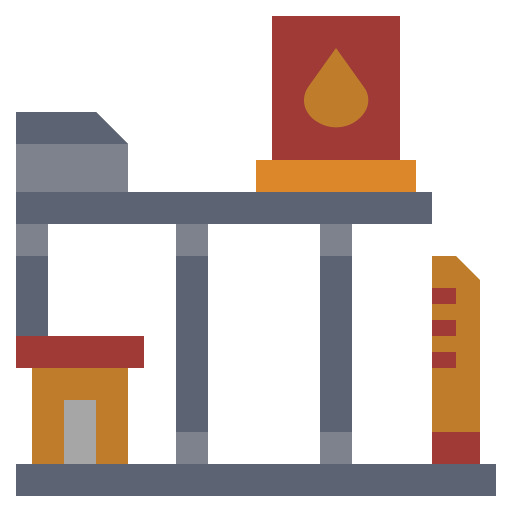 factory, gas, illustration, industry, oil, power, station icon