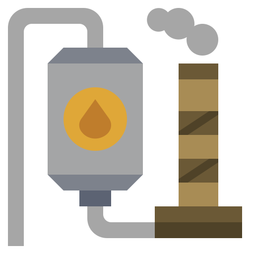 energy, factory, illustration, industry, oil, power, refinery icon