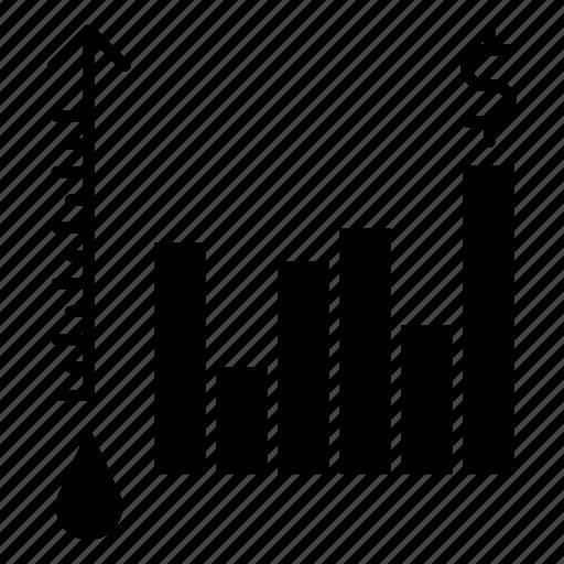 oil, petrol, price, report icon