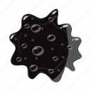 blot, dirty, drop, oil, splash, spot, stain icon