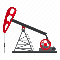 business, cartoon, drilling, fuel, industry, oil, rig icon