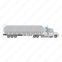carries, cartoon, gasoline, petrol, transport, truck, wheel icon