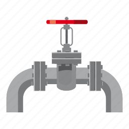 cartoon, construction, industry, oil, pipe, tube, valves icon