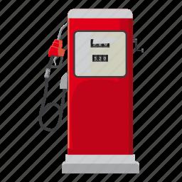 cartoon, fuel, gas, gasoline, oil, pump, station icon
