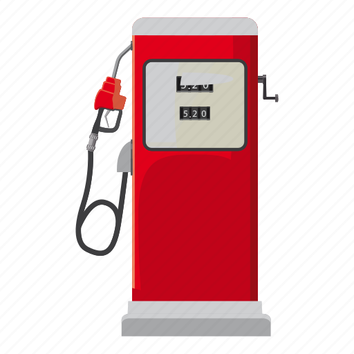 cartoon, fuel, gas, gasoline, oil, pump, station icon