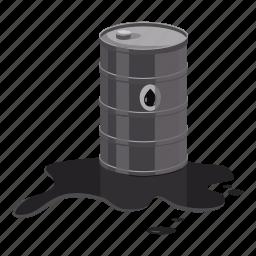 barrel, cartoon, fuel, gas, metal, oil, pump icon