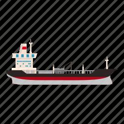 big, cartoon, gas, oil, pump, ship, storage icon