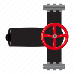 cartoon, construction, industrial, industry, pipe, tube, valves icon
