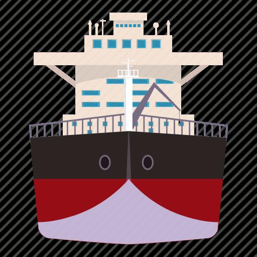 cartoon, gas, oil, pump, ship, storage, transportation icon