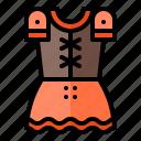 dirndl, ferstival, germany, oktoberfest, outfit icon