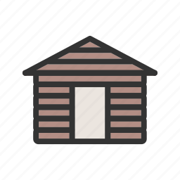 cabin, forest, house, hut, nature, wood, wooden icon