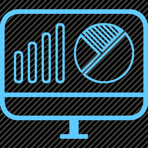 analytics, chart, monitor, piechart, progress, seo, statistics icon