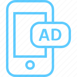 ads, campaign, mobile, promotion icon