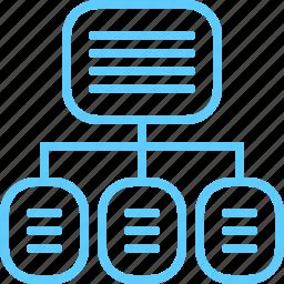 content, flowchart, navigation icon