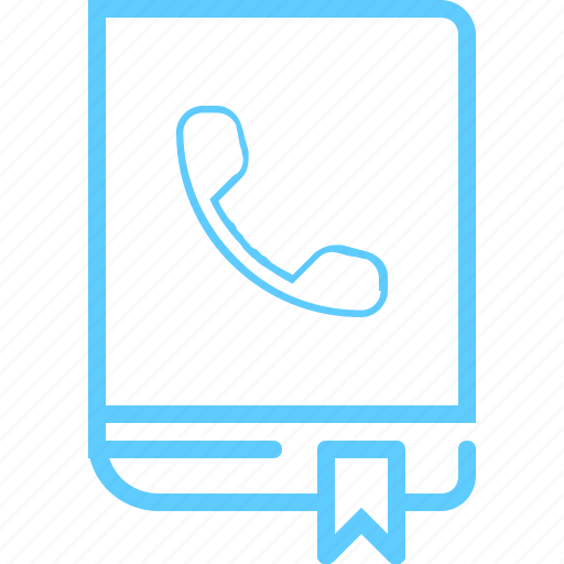 book, contact, phone, phonebook icon