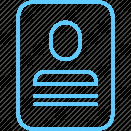 cv, id, identification, portfolio, profile icon