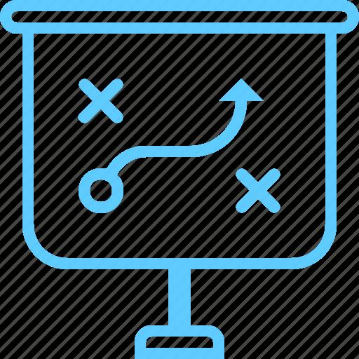 graph, plan, presentation, strategy icon