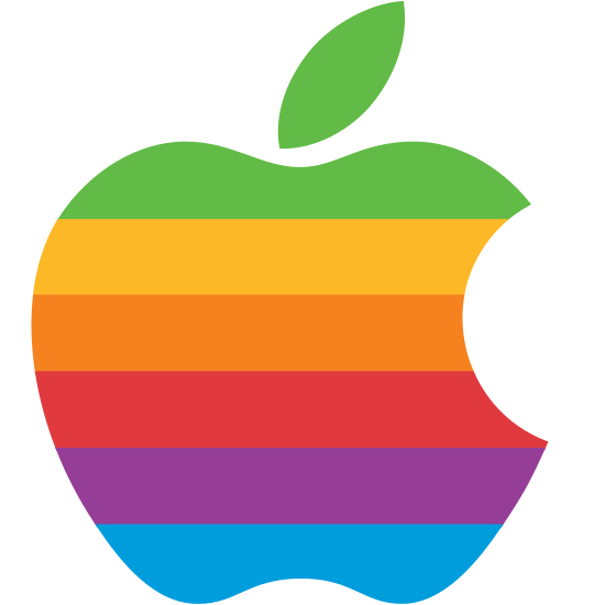 apple, rainbow icon