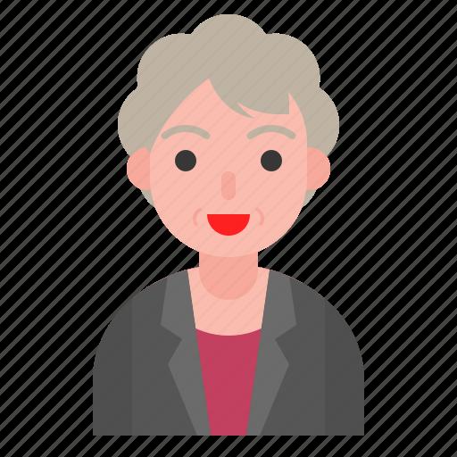 avatar, female, grandma, older, woman icon