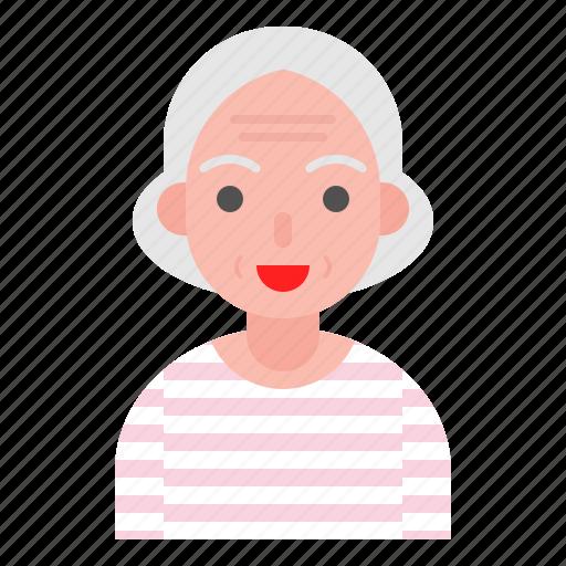avatar, grandmom, older, woman icon