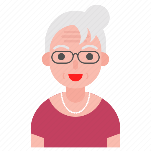 avatar, emoticon, face, glasses, old, older icon