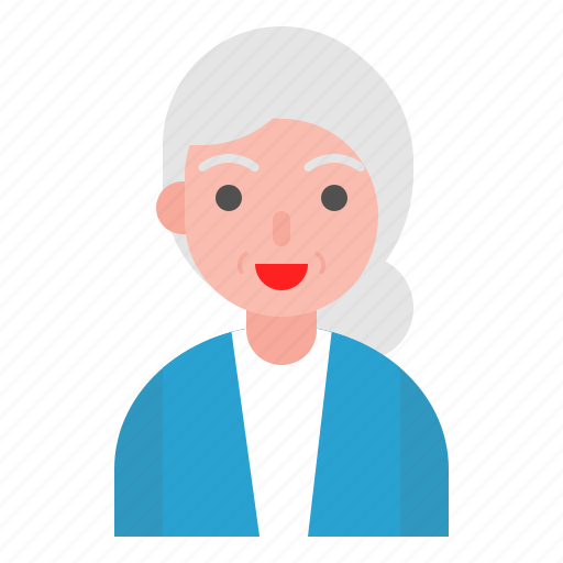 aunty, avatar, older, profile, user icon