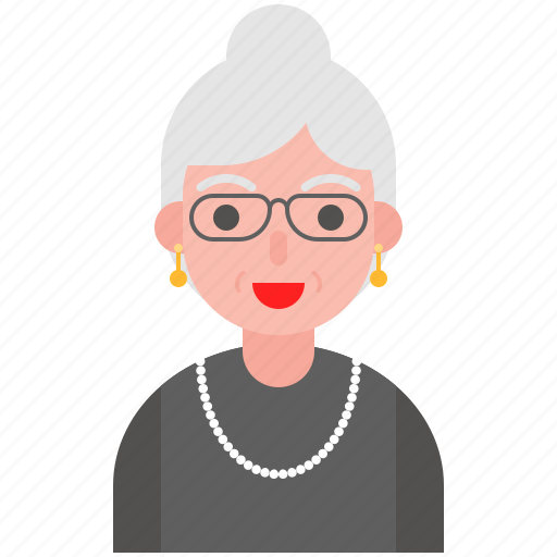 avatar, housewife, older, profile, woman icon