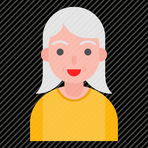 avatar, elder, older, people, woman icon