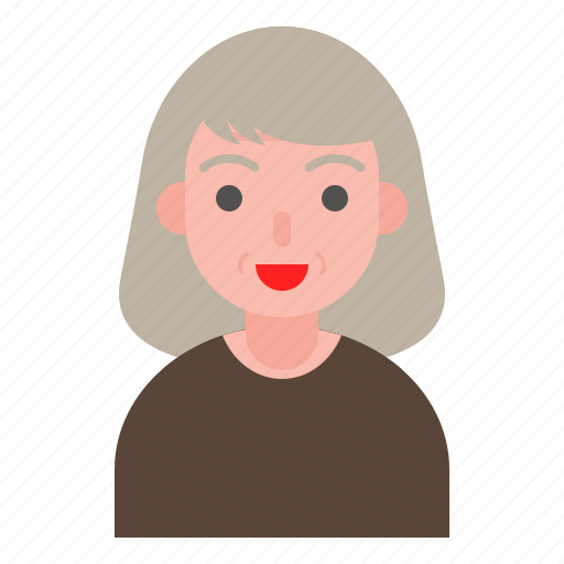 avatar, elder, female, older, woman icon