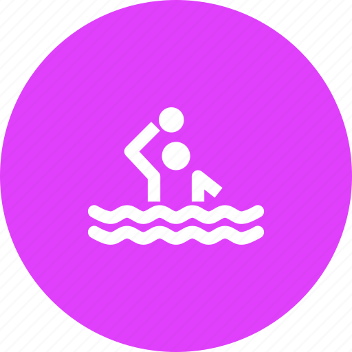 aquatics, games, olympics, polo, pool, sports, water icon