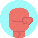 boxing, fight, glove, punch icon