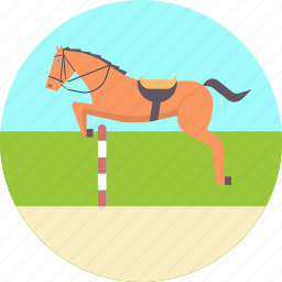 equestrian, horse, jump, jumping, olympics, riding, show icon