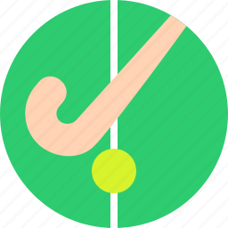 ball, court, field, game, hockey, sports, stick icon