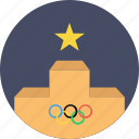 ceremony, felicitation, medal, olympics, podium, stage, winner icon