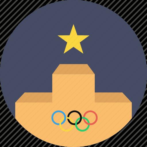 ceremony, felicitation, medal, olympics, podium, stage, winner icon