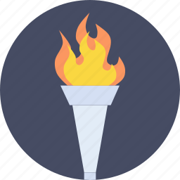flame, light, olympics, rally, relay, sports, torch icon