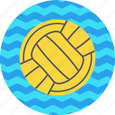 aquatics, ball, game, polo, pool, sports, water icon