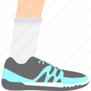 athletics, jogging, running, shoe icon
